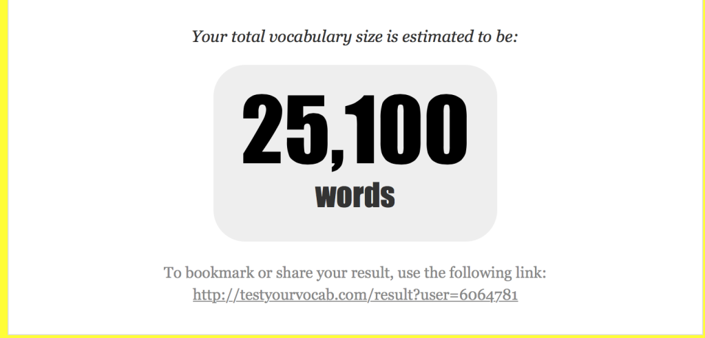 test your vocab 2015