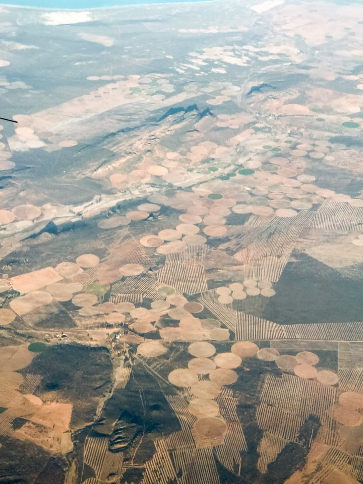 南アフリカ上空